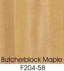 Butcherblock Maple Plastic Laminate Selection