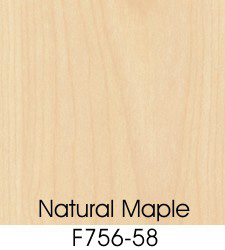 Natural Maple Plastic Laminate Selection