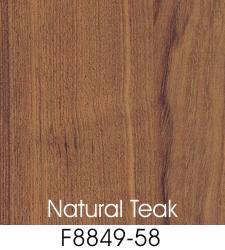Natural Teak Plastic Laminate Selection