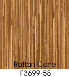 Rattan Cane Plastic Laminate Selection