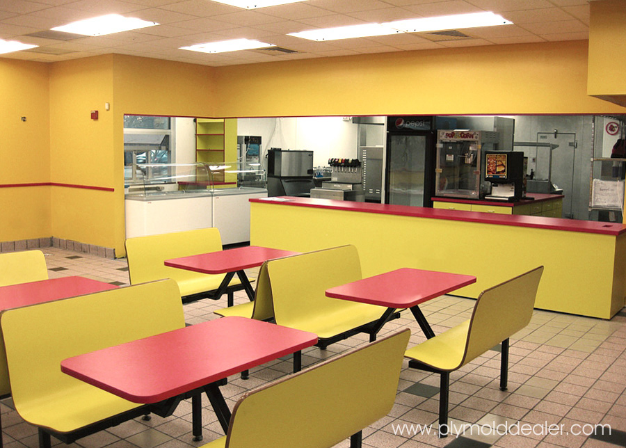 Fast Food Restaurant, Island Style Contour Booths