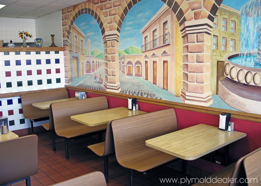 Four Seat Wall Style Laminated Plastic Contoured Booths - Mexican Restaurant
