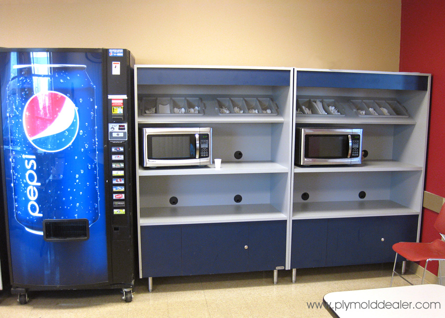 Microwave Oven Cabinets - Factory Cafeteria