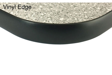 Laminated Plastic Surfaced Vinyl Edged Table Top